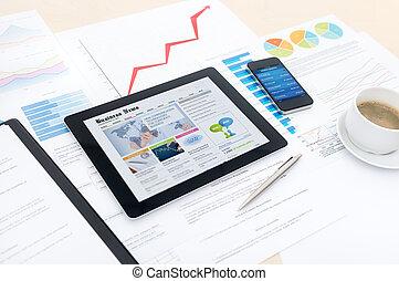 affari moderni, con, nuovo, tecnologie