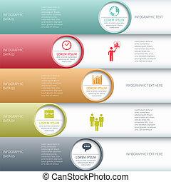 affari moderni, infographics, opzioni, banner., vettore, illustration.