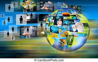 affari mondo, e, tecnologia
