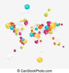 affari mondo, mappa