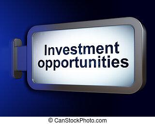 affari, opportunità, fondo, tabellone, investimento, concept: