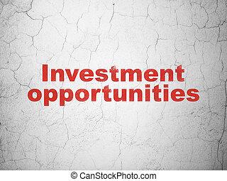 affari, parete, opportunità, fondo, investimento, concept: