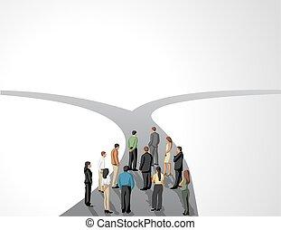 affari persone, gruppo