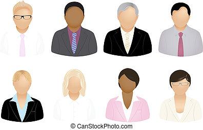 affari persone, icone