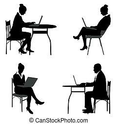 affari, persone lavorare