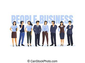 affari, prendere, persone., persone, gruppo, concetto