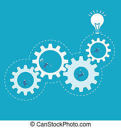 affari, processo, ingranaggio, miglioramento, rotazione, ...