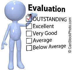 affari, qualità, direttore, relazione, valutazione, assegno