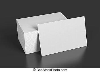 affari, rendering., fondo., nero, sagoma, vuoto, cartelle, bianco, 3d, tuo, design.