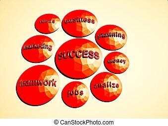 affari, riuscito, concept., rendering., business., illustrazione, strategia, componenti, 3d
