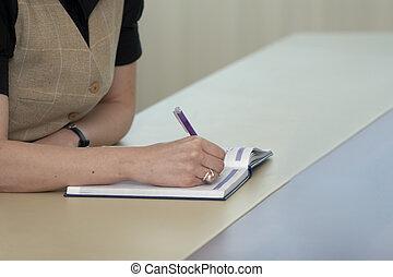 affari, scrivania, 3