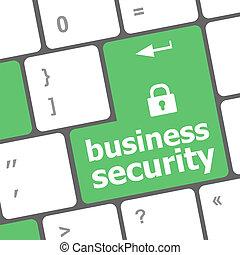 affari, sicurezza, chiave, su, il, tastiera, di, computer portatile
