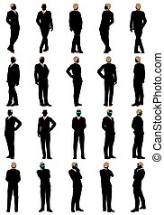 affari, silhouette, set