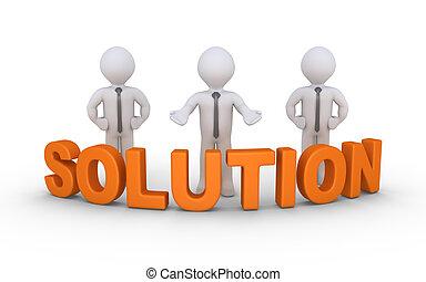 affari, soluzione, offerta