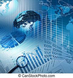 affari, tabelle, e, grafici