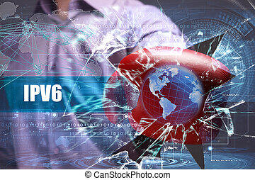 affari, tecnologia, internet, e, rete, security., ipv6