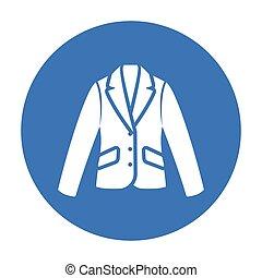 affari tela, mobile, illustrazione, giacca, vettore, icona