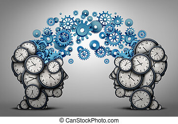 affari, tempo, pianificazione, associazione