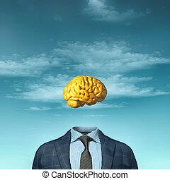 affari, testa, completo