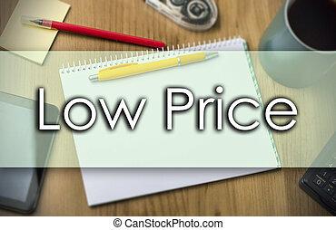 affari, testo, basso, -, prezzo, concetto