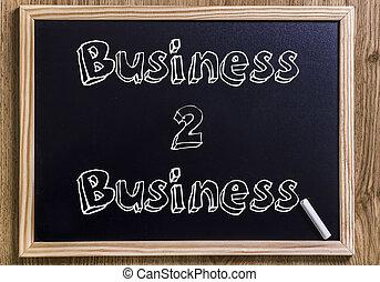 affari, testo, delineato, -, 2, lavagna, nuovo, 3d