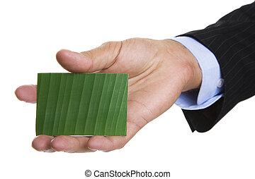 affari verdi, scheda