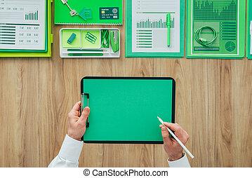 affari verdi, ufficio