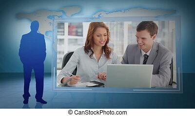 affari, videi, fotomontaggio
