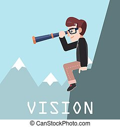 affari, visione, uomo