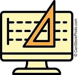 affattelseen, arkitekt, udkast, computer, firmanavnet, ikon
