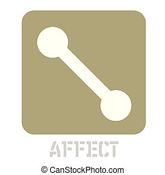 Affect concept icon on white flat illustration.