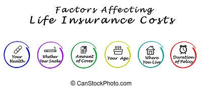 affecting, 保険, コスト, 要因, 生活