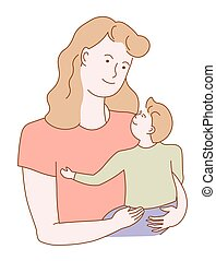 Affection and unconditional love of a mother holding a baby ...