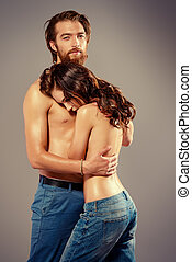 affection pair - Fashion portrait of a beautiful tender...