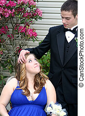 Affectionate Prom Couple