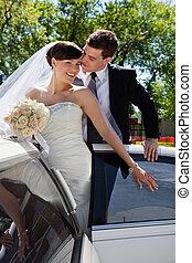 affectueux, couple, mariage