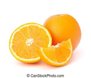 affettato, frutta, fondo, isolato, bianco, segmenti, arancia