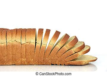 affettato, pane di farina integrale