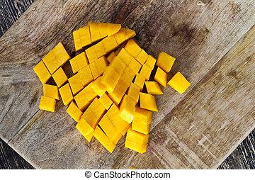 affettato, zucca arancia
