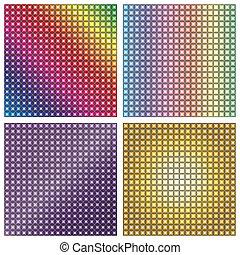 affichage diodes électroluminescentes, fond