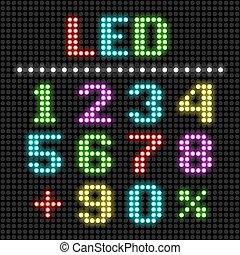 affichage diodes électroluminescentes, nombres