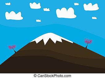 affichage montagne