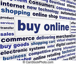 affiche, achat, business, ligne