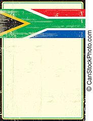 affiche, afrique, sale, sud