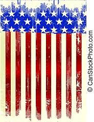 affiche, américain, sale