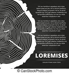 affiche, anneaux, conception, arbre