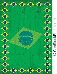 affiche, cadre, sale, brésilien