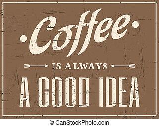 affiche, café, retro