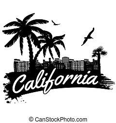 affiche, californie
