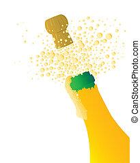 affiche, champagne